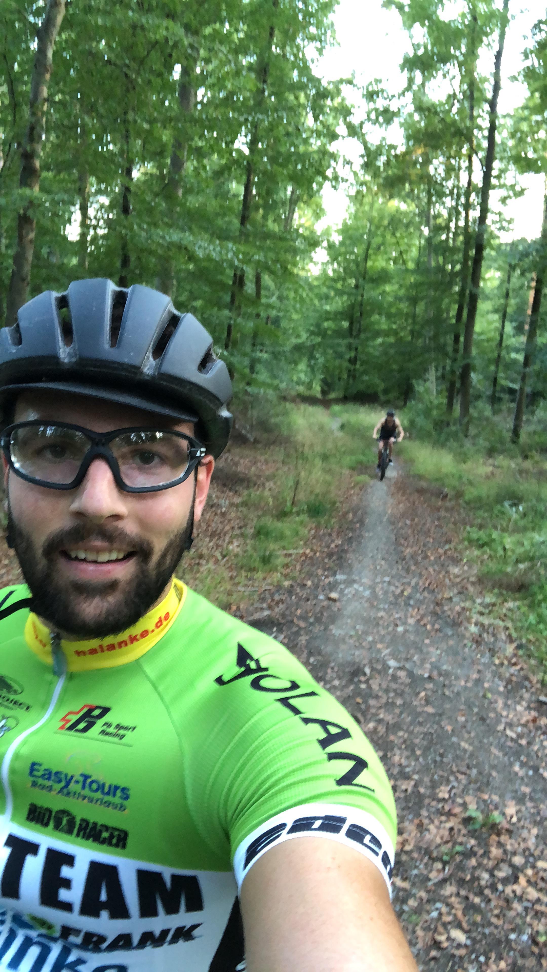 A nice bike tour in Schönbuch at panzer trail near Böblingen
