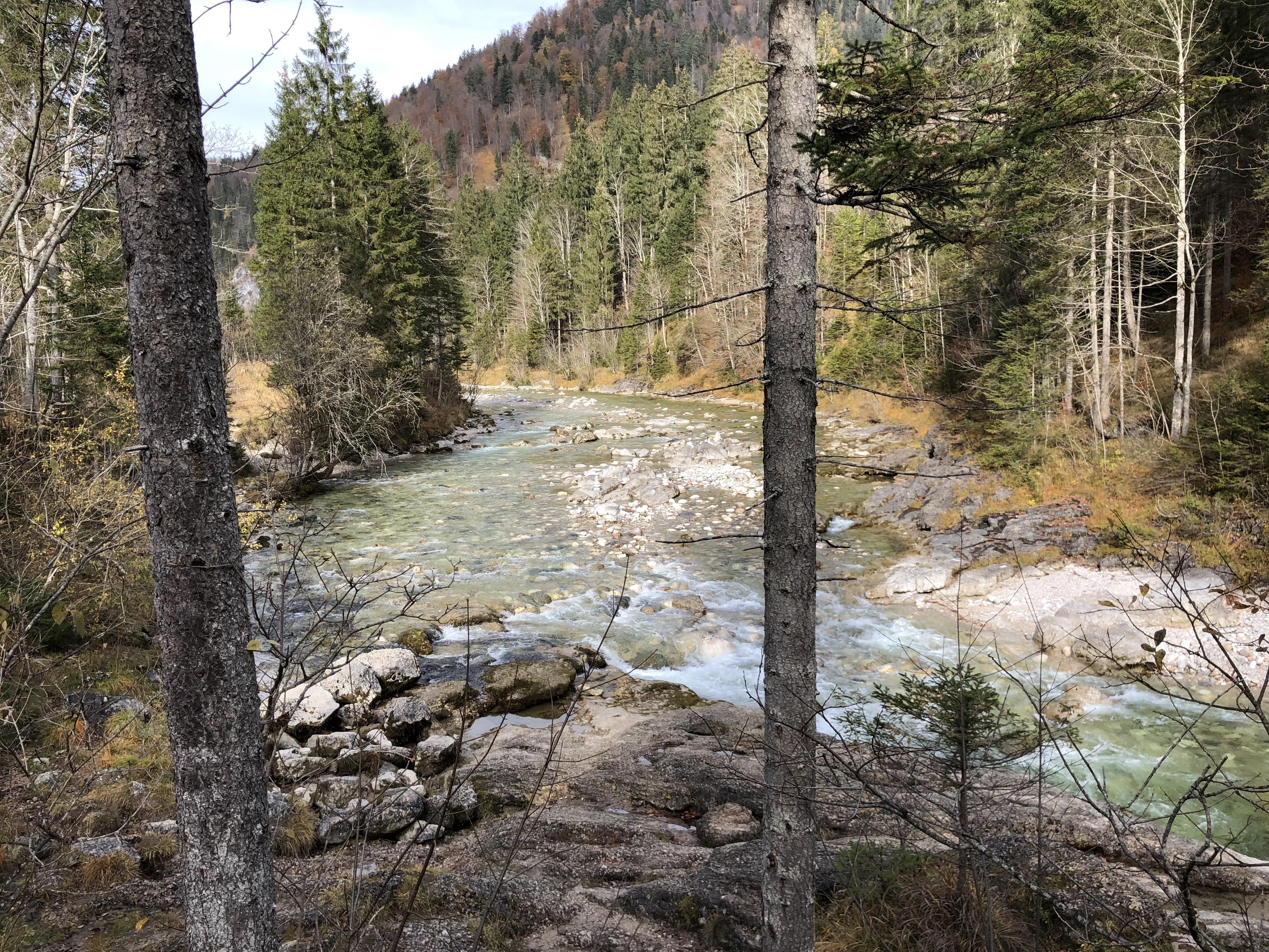 Ein schöner Blick auf die Kaiserklamm in Österreich bei Kufstein