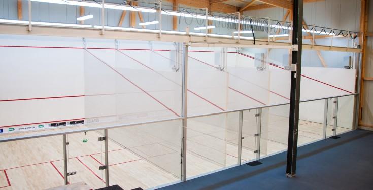 Ein schöner Squashplatz mit einem guten Partner ist immer anstrengend.