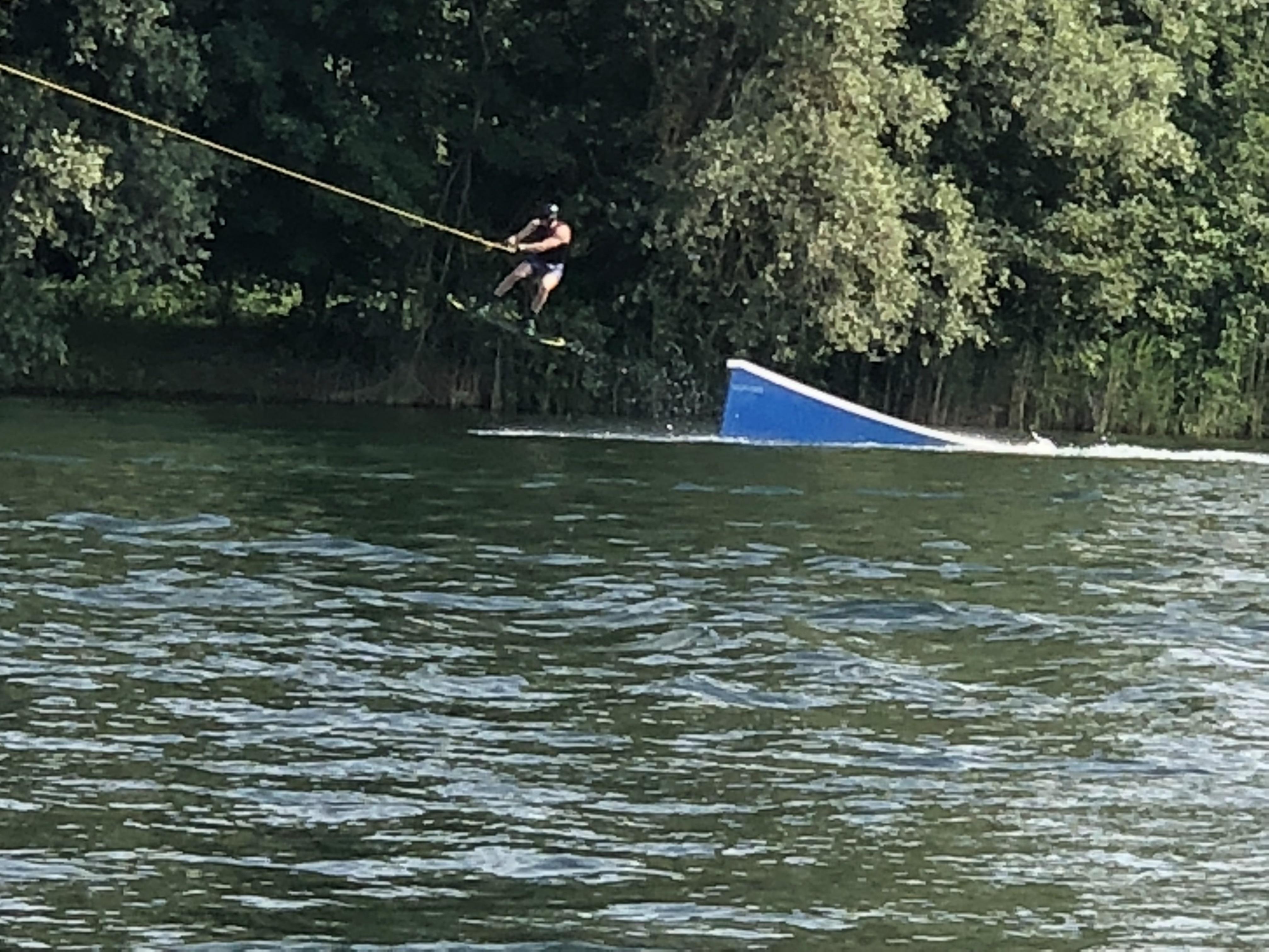 Go over a jump